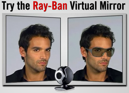 20d55e578c ... offers Augmented Reality service to sell glasses online. Ray-Ban  Virtual Mirror